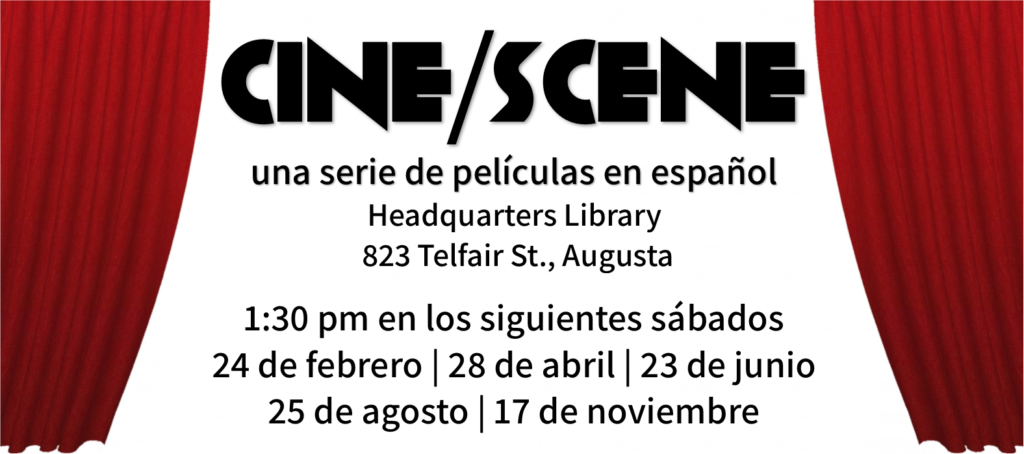 cine scene graphic in spanish