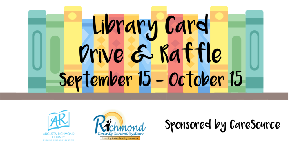 Library Card Drive and Raffle September 15 through October 15
