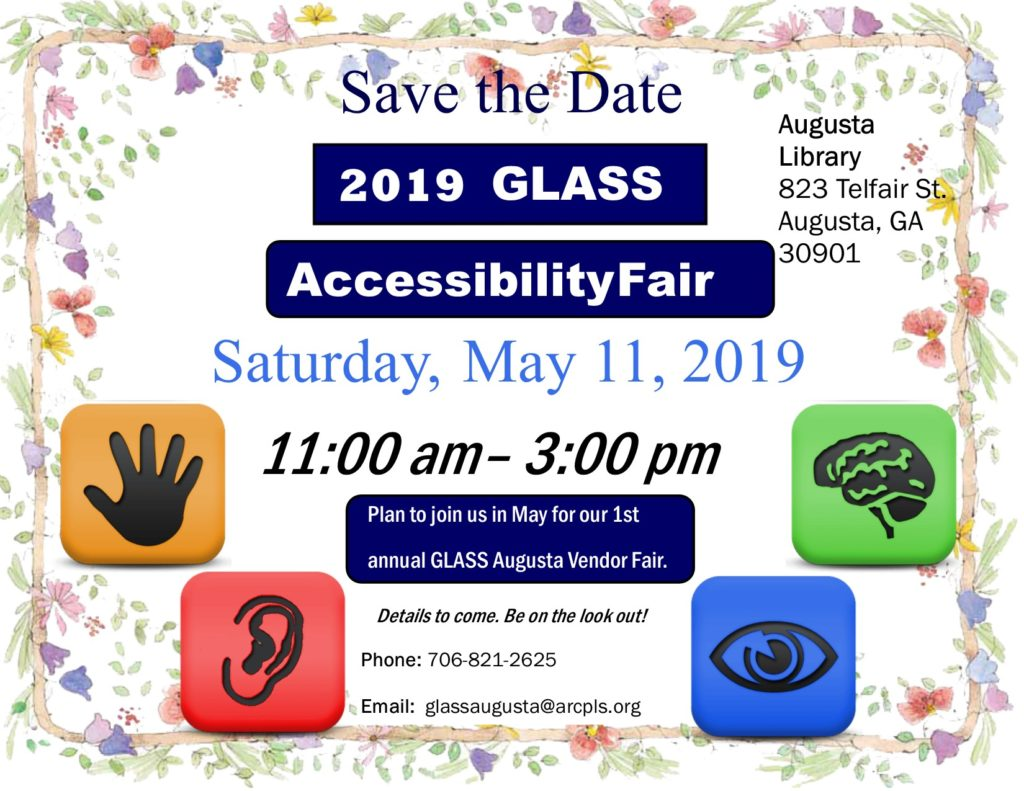 save the date for accessibility fair