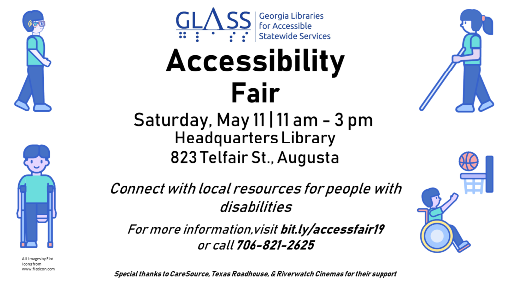image of GLASS May 11 Accessibility Fair flier