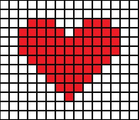 cross stitch heart pattern