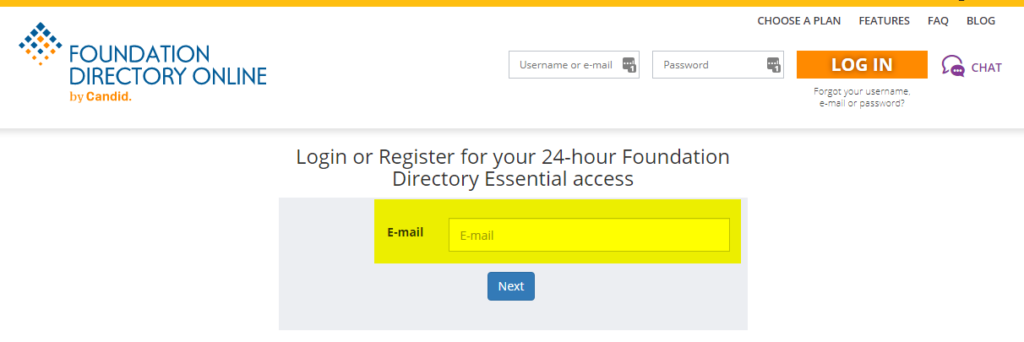 off site day pass registration and login page